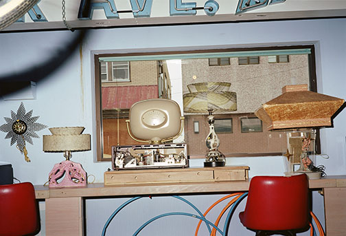 Untitled (Room with Old TV, Lamps, Wildwood, New Jersey)