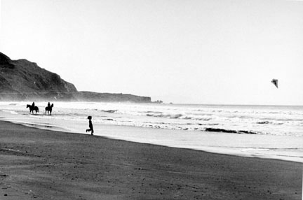 Stinson Beach Boy with Kite