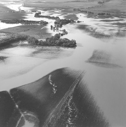 Flooding from Solomon River, Ottawa County Kansas, July 23, 1993