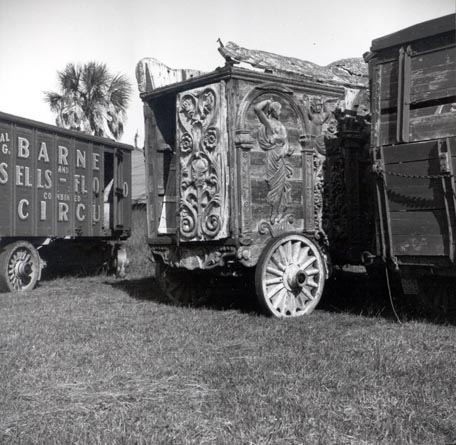 [Three-quarters View of Ringling Bandwagon, Sarasota, Florida]
