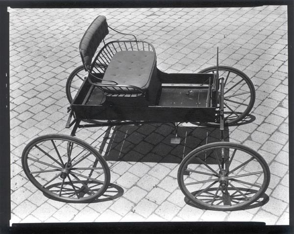 Jennings Carriages or [High-Angle View of Buckboard-Style Carriages]