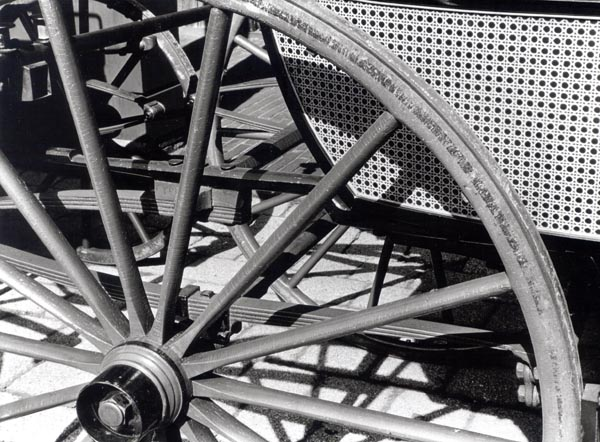 [Detail of a Jennings Carriage Wagon Wheel]