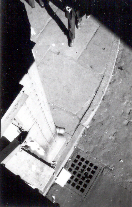 [New York City Street Corner, High Angle View]