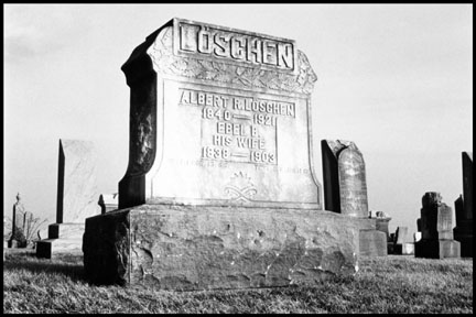 Headstone, Northwest of Flatville, Illinios, from