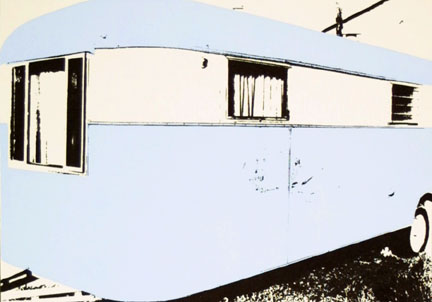 "Trailer, Los Angeles, from ""First Student Independent"" portfolio, 1968-1969, the School of the Art Institute of Chicago"