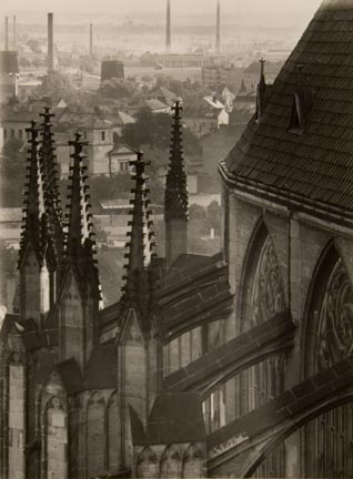 Untitled (part of view from above of cathedral, rooftops in background)