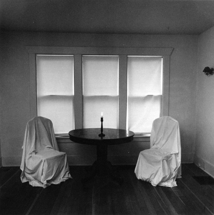 Three Windows, Two Chairs, and a Candle (Passare Focio)