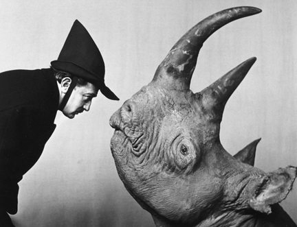 Dali With Rhinoceros, From Halsman/Dali Portfolio