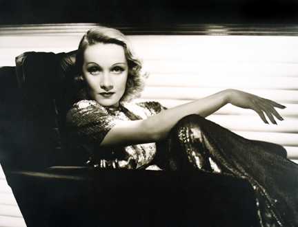 Marlene Dietrich, from the