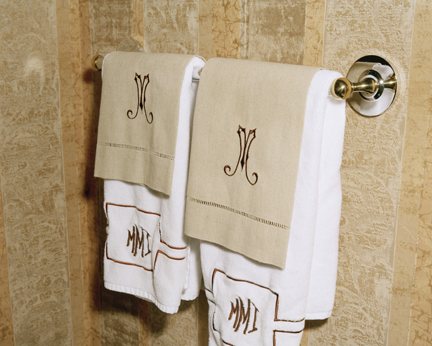 Monogrammed Towels 8117, from the EMPIRE portfolio