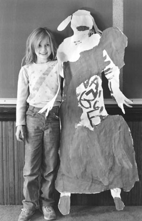 Angel Renda and her Self Portrait, Hans Christian Anderson Elementary School, Chicago, from Changing Chicago
