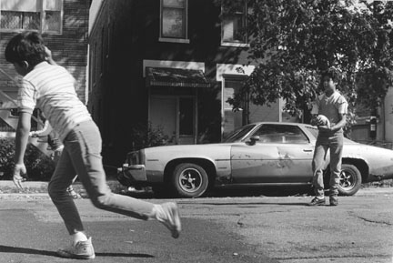 Street Football During Teachers' Strike, Honore Street, Chicago, from the Changing Chicago Project