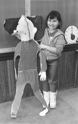 Iliana Linares and her Self Portrait, Hans Christian Anderson Elementary School, Chicago, from Changing Chicago