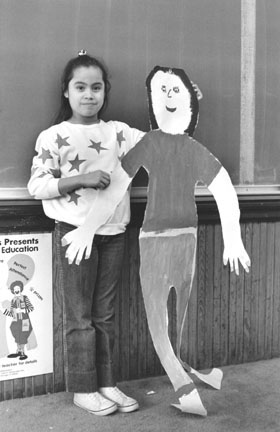 Maribel Sanchez and her Self Portrait, Hans Christian Anderson Elementary School, Chicago, from Changing Chicago
