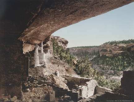 Cliff Palace, Mesa Verde, From the Ruins, Colorado