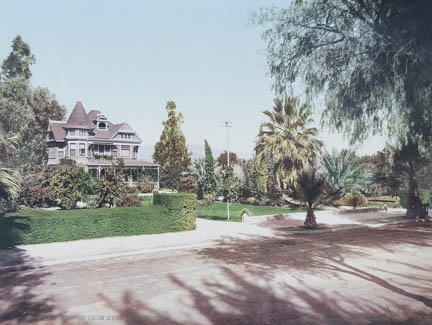 View on Palm Avenue, Riverside, California