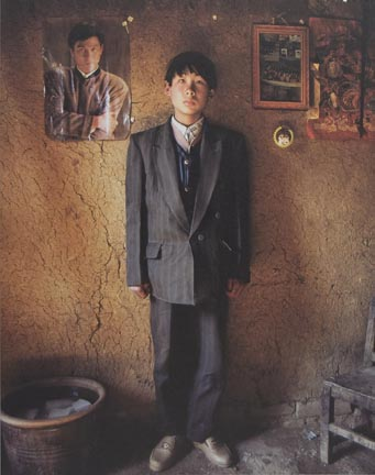 Zhao Weidong, 16-Years-Old, at Yugong Village, Wangwu Township of Jinyuan County in 1997, from the