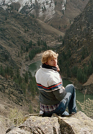 Ken with Salmon River, from the