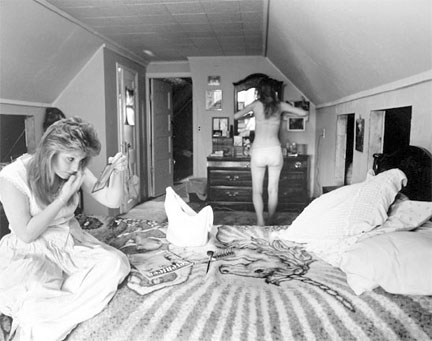 Julie and Trilby in Julie's Bedroom, from Changing Chicago