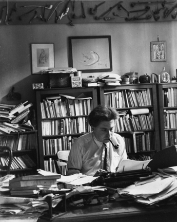 Ilya Ehrenbourg, Paris (in his study)