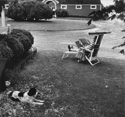 Oldwick, N.J. (woman on lawn chair)