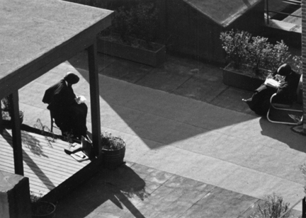 Untitled (nuns reading on rooftop)