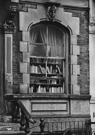 Greenwich Village, New York (book lined window)