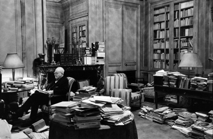 Paris (James reading in study)