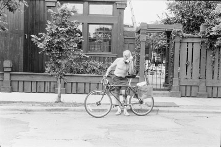 Man on Telephone, Racine and Armitage Avenues, from Changing Chicago