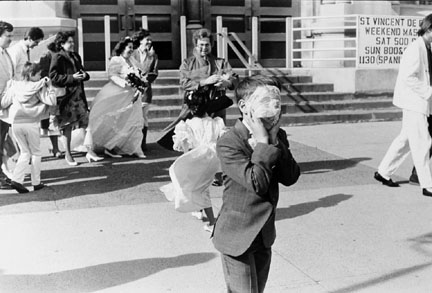 Boy at Wedding, Webster and Sheffield Avenues, from Changing Chicago