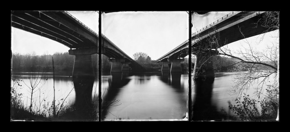 I-295 Bridges, Topsham, Maine (triptych)