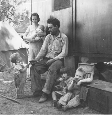 Texas tenant farmer in California. Marysville Migrant Camp (R.A)