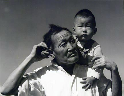 Manzanar, California, Grandfather and Grandson