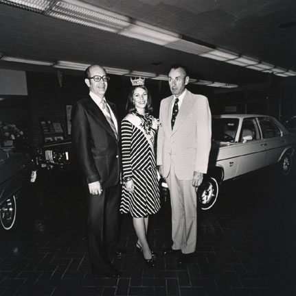 Miss Illinois in the Pontiac Dealer Showroom, Champain, Illinois
