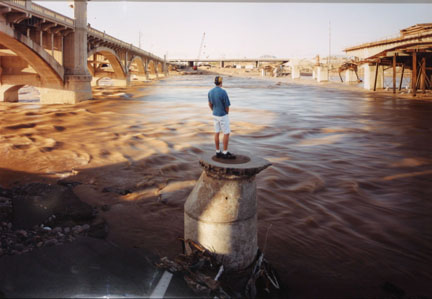 David at the Flood of the Salt River, Tempe, Arizona, from the