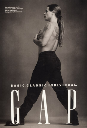 Gap denim jeans as worn by Anthony Kiedis, lead singer, Red Hot Chili Peppers