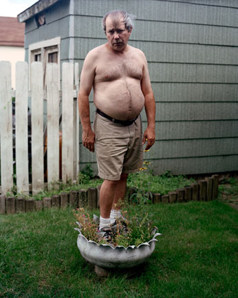 My Dad Standing in the Flowerpot
