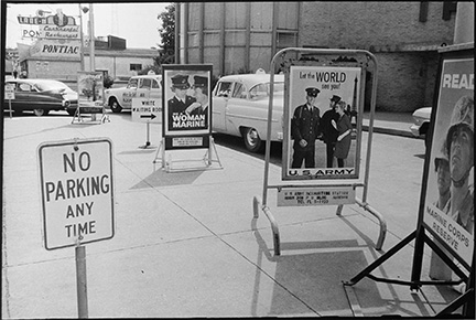 Segregation signs still stand outside the Jackson, Mississippi bus terminal