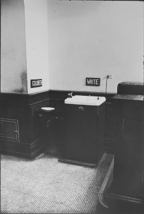 Segregated drinking fountains in the county courthouse in Albany, Georgia