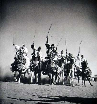 Hausa chieftains demonstrate their superb horsemanship in a
