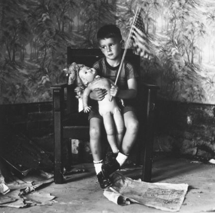 Untitled (Boy with Flag), from