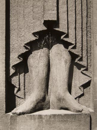 Untitled (sculpture of legs)