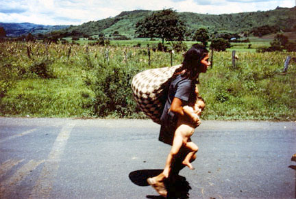 Fleeing the Bomb to Seek Refuge Outside of Esteli, from the