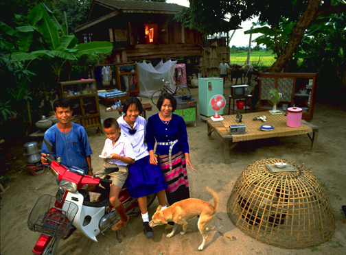 The Natomo Family, Kouakourou, Mali, 6:30 a.m., March 27, 1993