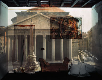 Camera Obscura: The Pantheon in Hotel Albergo del Sole, Room #111, Rome, Italy