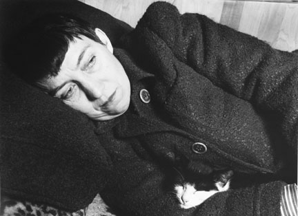 Berenice Abbott with Cat