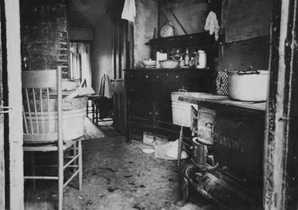 Slum Negro kitchen, Washington, D.C.