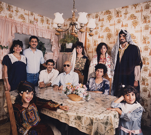 Palestinian-American Family in Their Home, W. 79th Street, from Changing Chicago