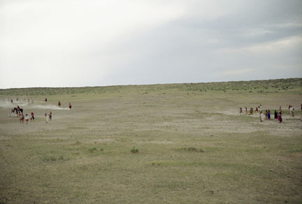 Reenactment of Battle of Little Bighorn, Crow Reservation, MT