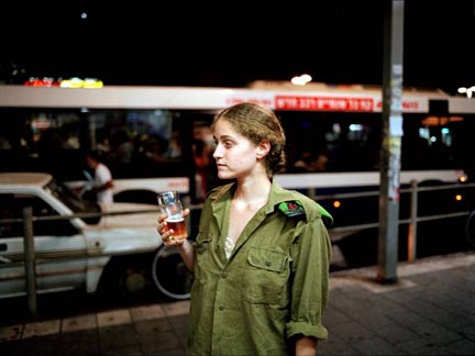 Atalia outside a bar on Alenby Street, Tel Aviv, Israel (#26), from the Serial No. 3817131 portfolio